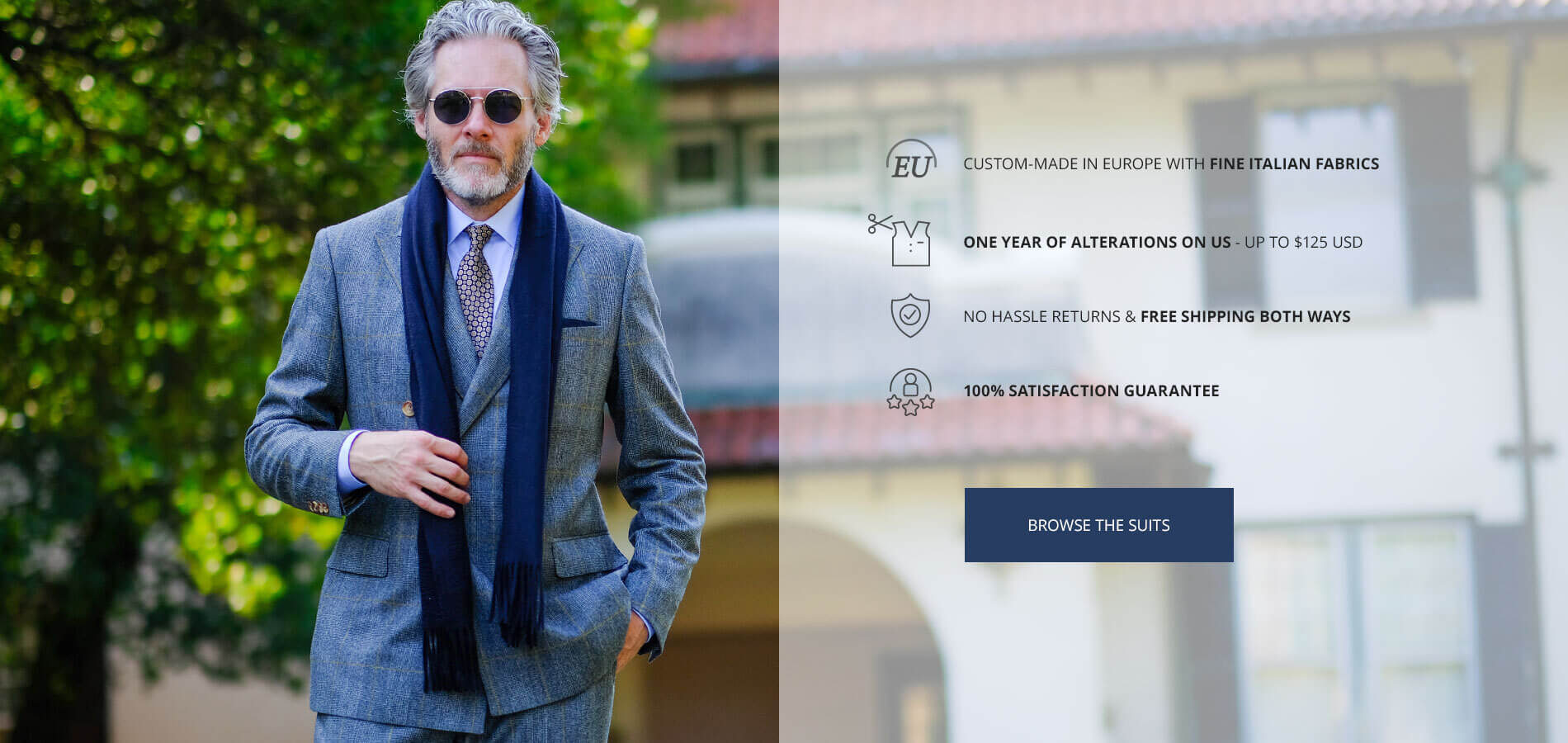 Custom Suits Made in Europe