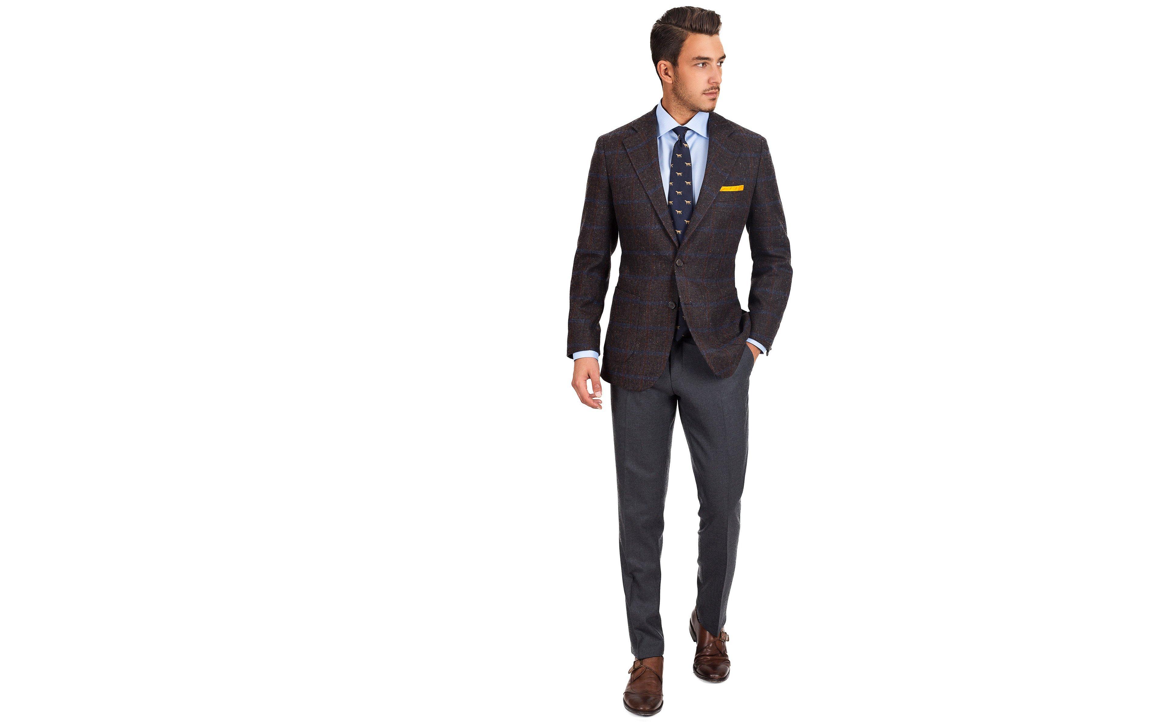 20752f4a336b Blue Check Brown Shetland Tweed Blazer