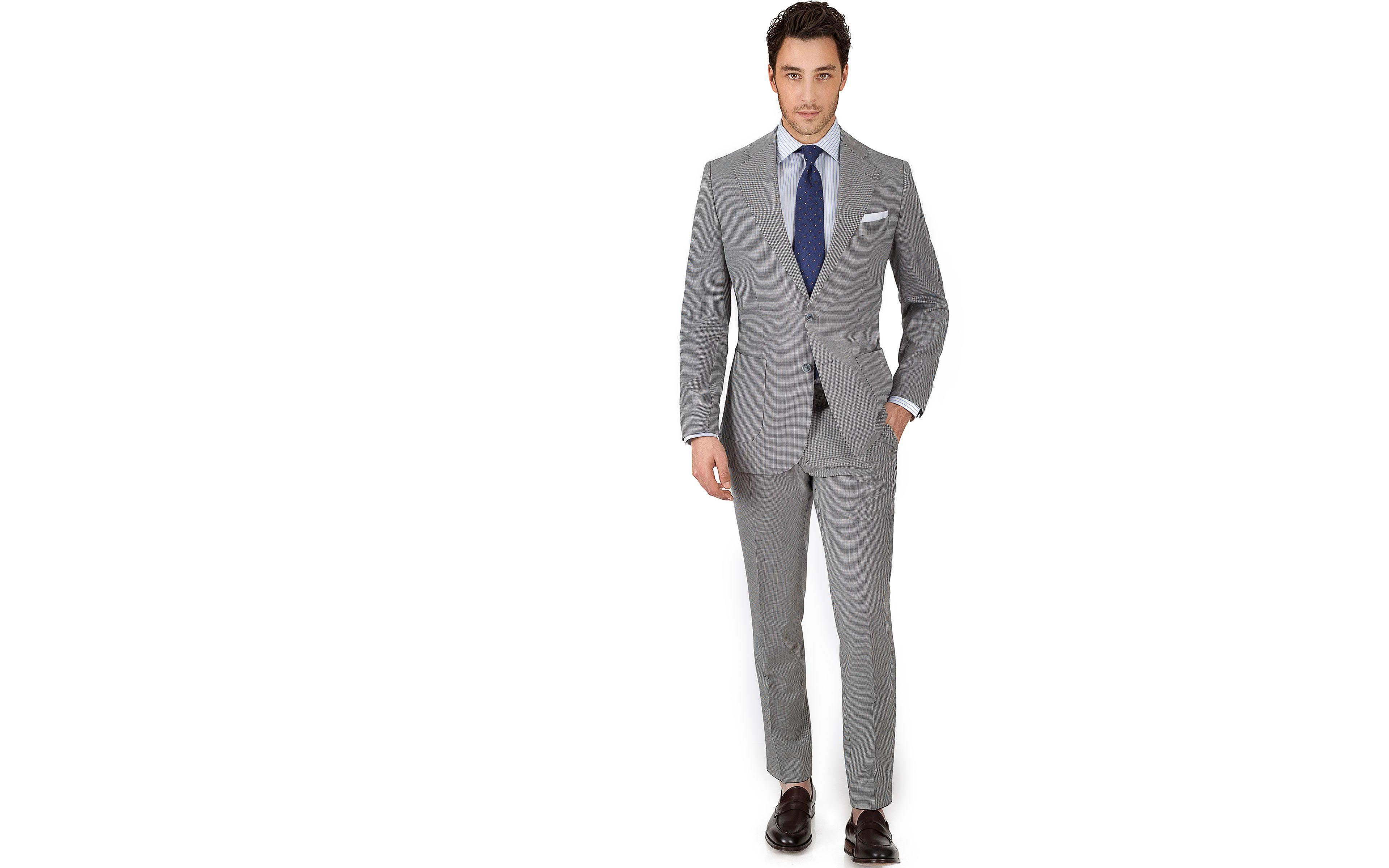 Vendetta Premium Grey Houndstooth Suit