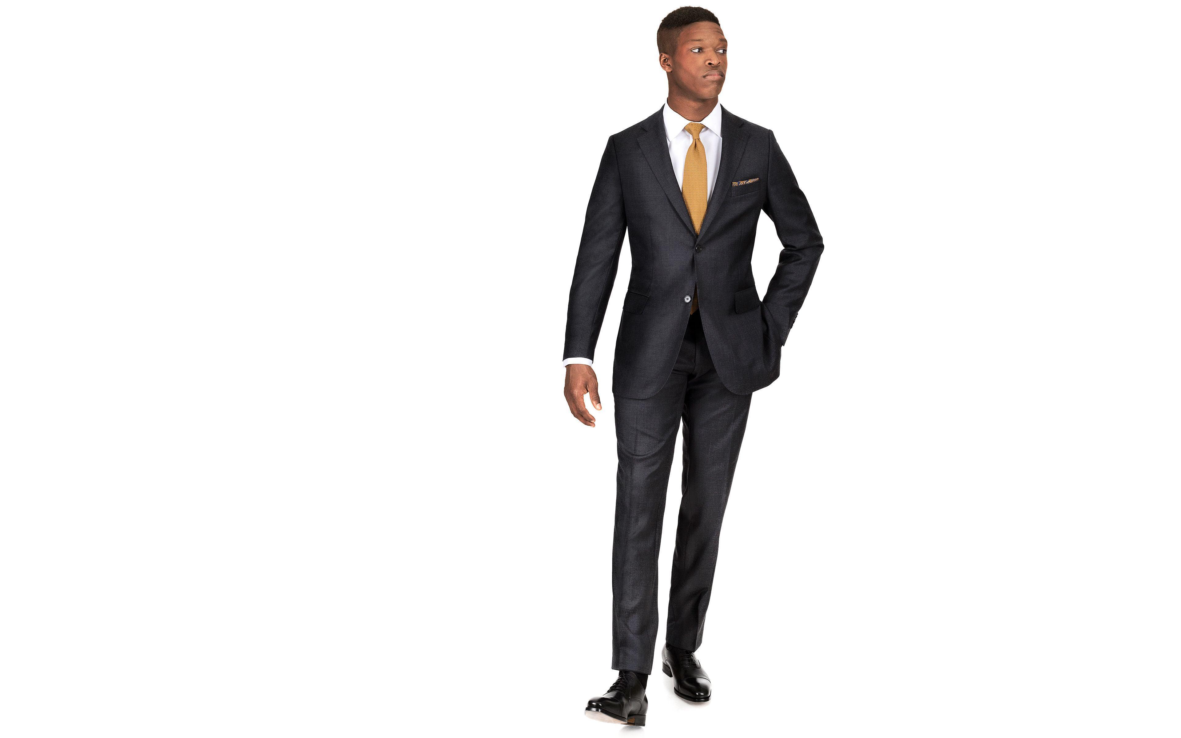 91adb81f3426 Suit in Charcoal Pick & Pick Wool