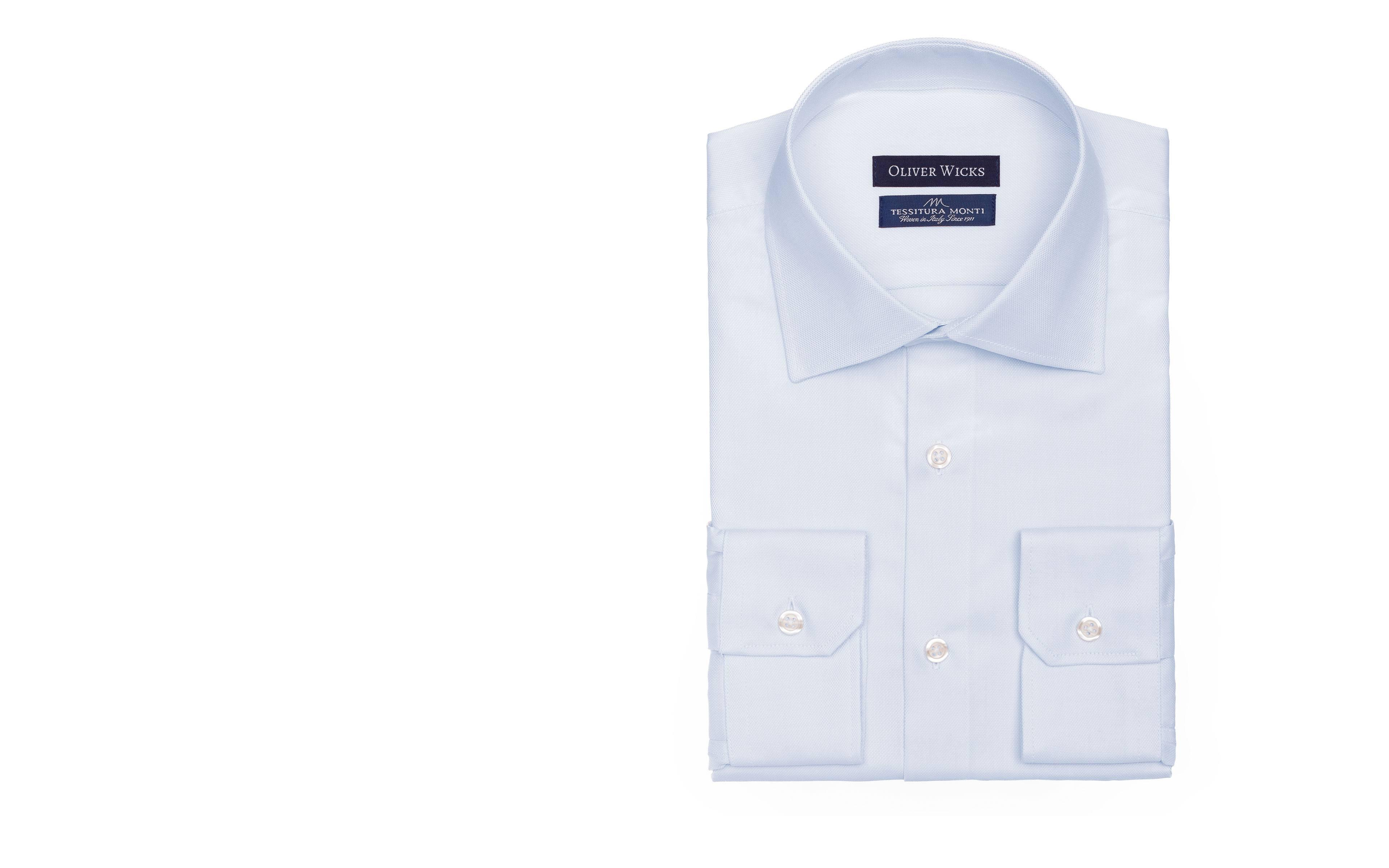 Pastel Blue Two-Ply Cotton Royal Oxford Shirt