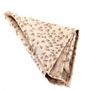 Beige Pocket Square With A Dandelion Pattern - thumbnail image 1