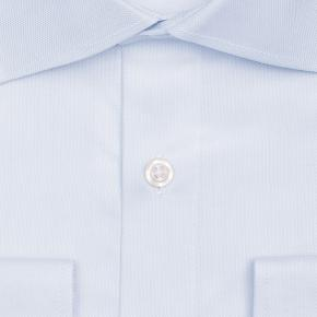 Pastel Blue Two-Ply Cotton Royal Oxford Shirt - thumbnail image 1