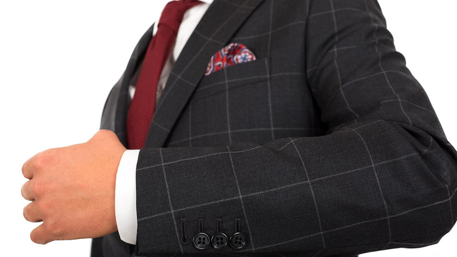 Charcoal Check Suit - slider image 1