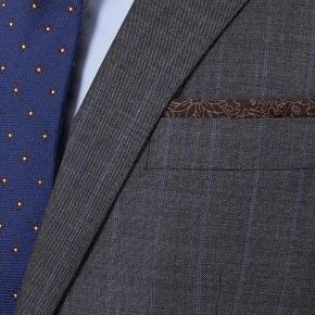 Blue Stripe Grey Natural Stretch Suit - thumbnail image 1