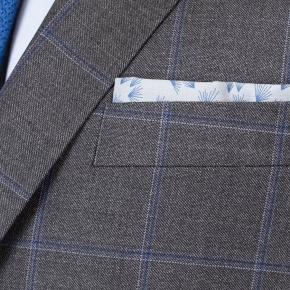 Grey Windowpane Pick & Pick Suit - thumbnail image 1
