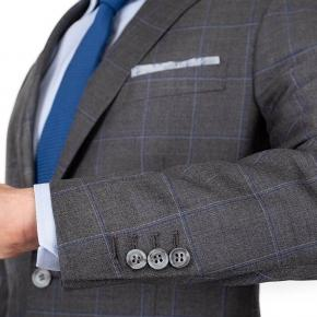 Grey Windowpane Pick & Pick Suit - thumbnail image 2