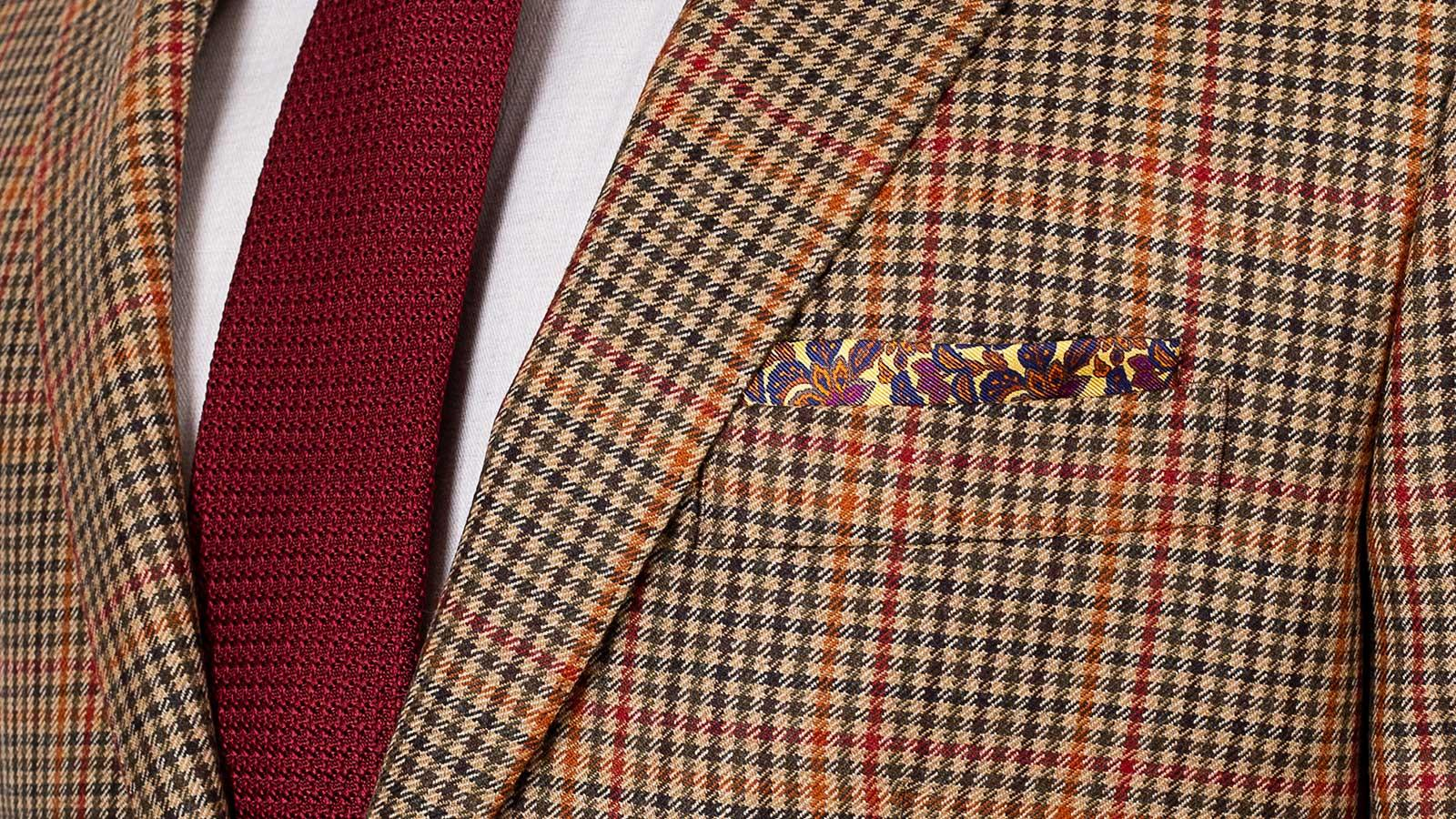 Brown Check Wool & Cashmere Suit - slider image 1