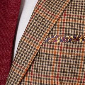 Brown Check Wool & Cashmere Suit - thumbnail image 1