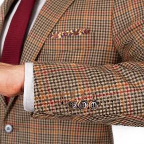 Brown Check Wool & Cashmere Suit - thumbnail image 2