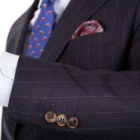 Vendetta Blue Stripe Navy Suit - thumbnail image 2