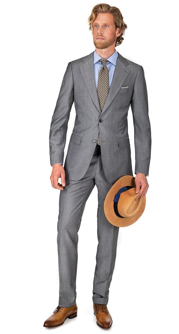 Light Grey Wool & Mohair Suit