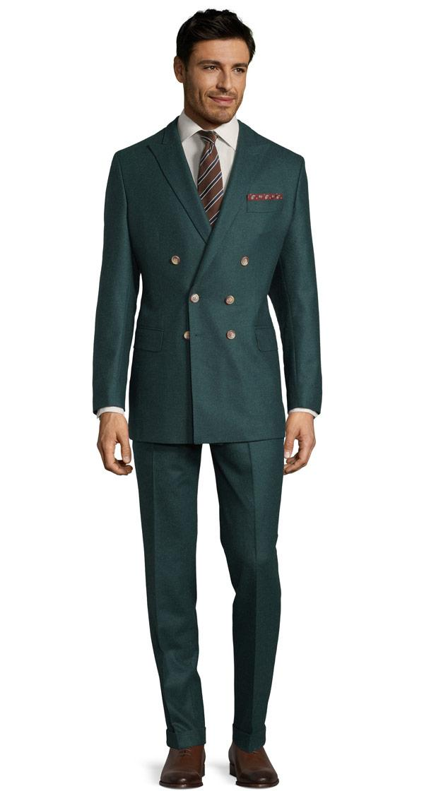 Green Wool Flannel Suit