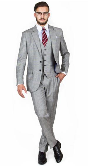 Light Grey 3 Piece Suit | My Dress Tip