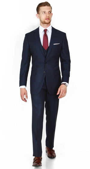 Midnight Blue Pick & Pick 3 Piece Suit