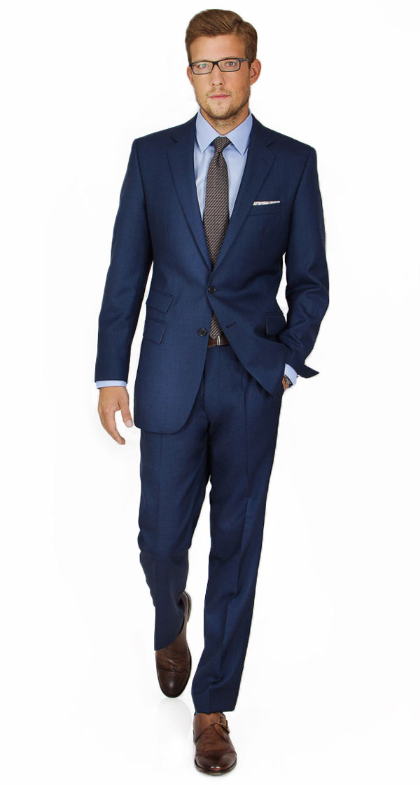 Intense Blue Pick & Pick Suit
