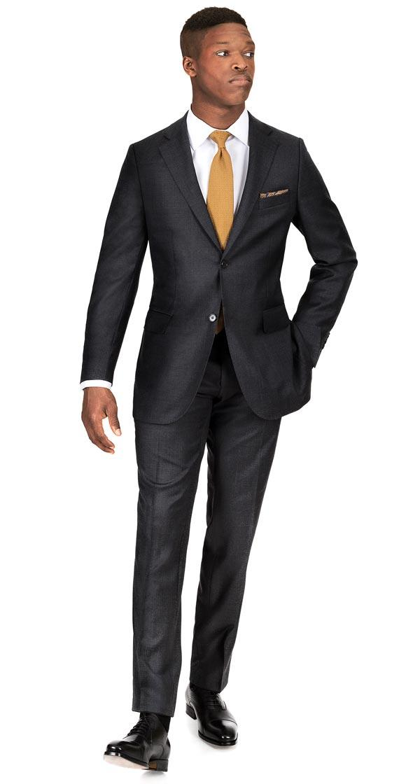 THE W. Suit in Charcoal Pick & Pick Wool