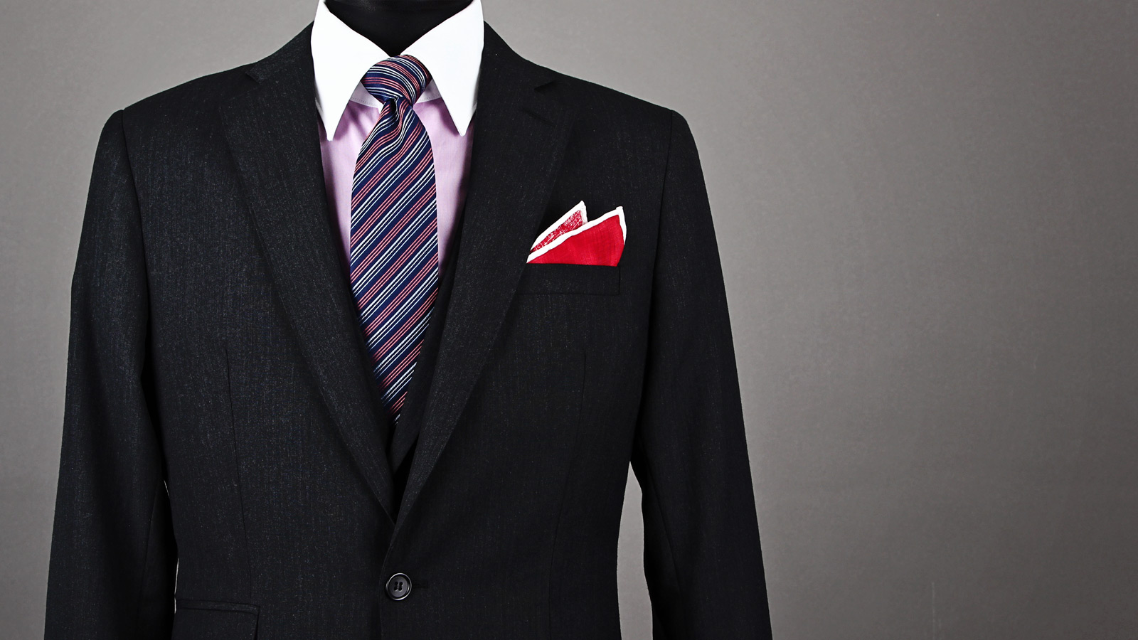 two point fold pocket square