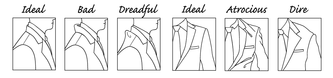 correct suit collar and correct shoulder position