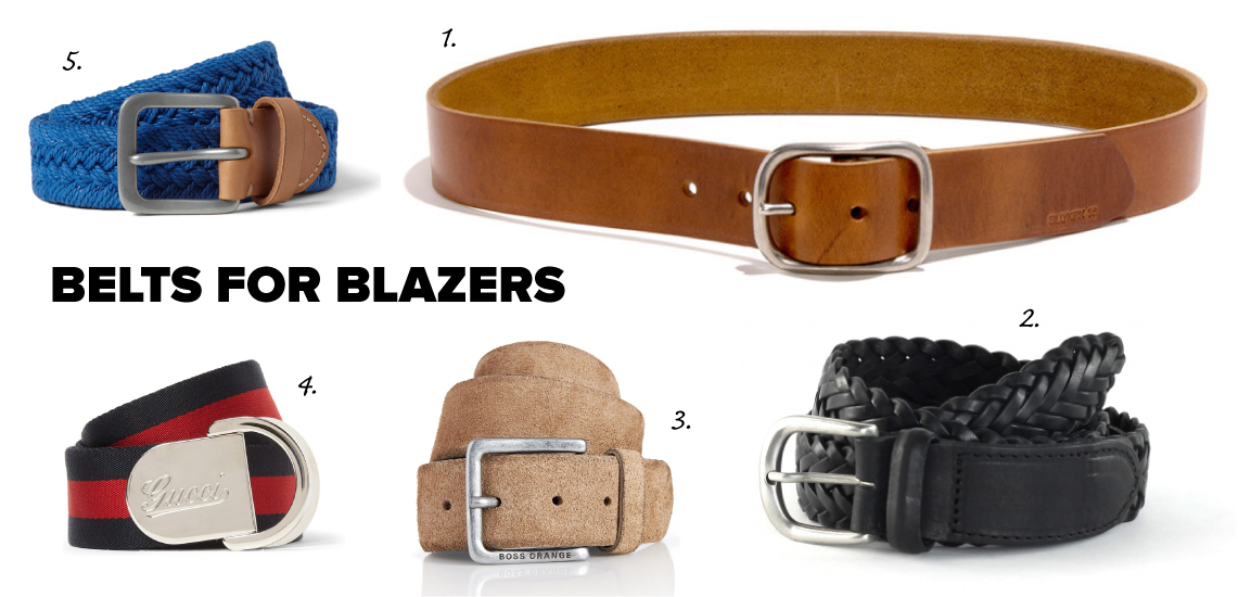 casual belts for blazers