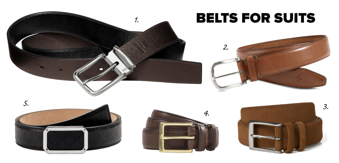 dress belts for suits