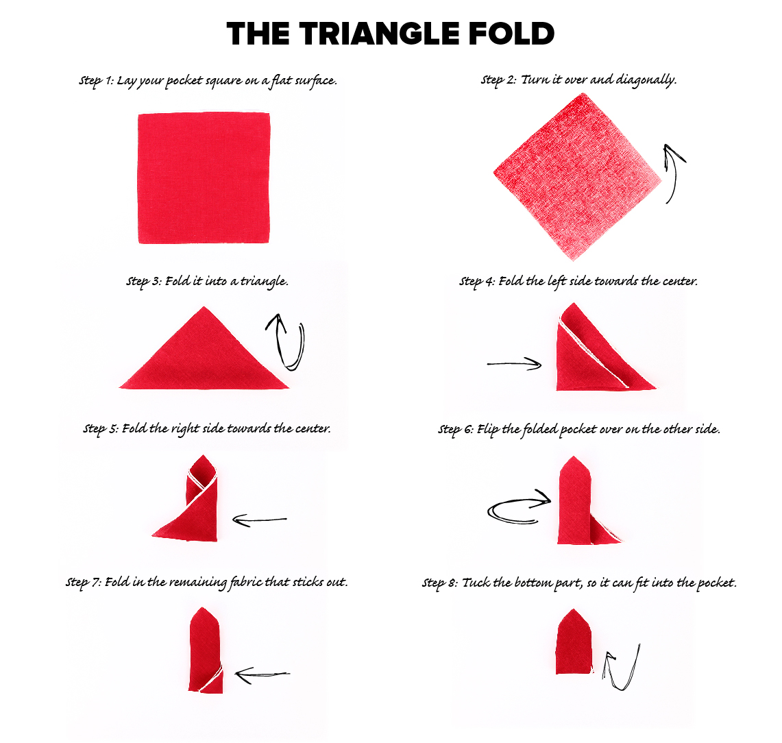 Triangle Fold Pocket Square